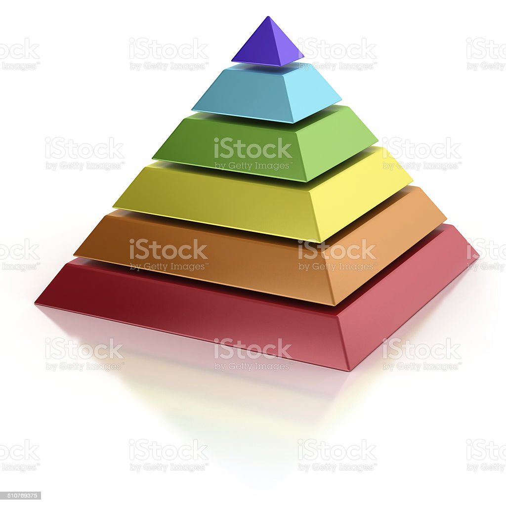 abstract 3d pyramid stock photo