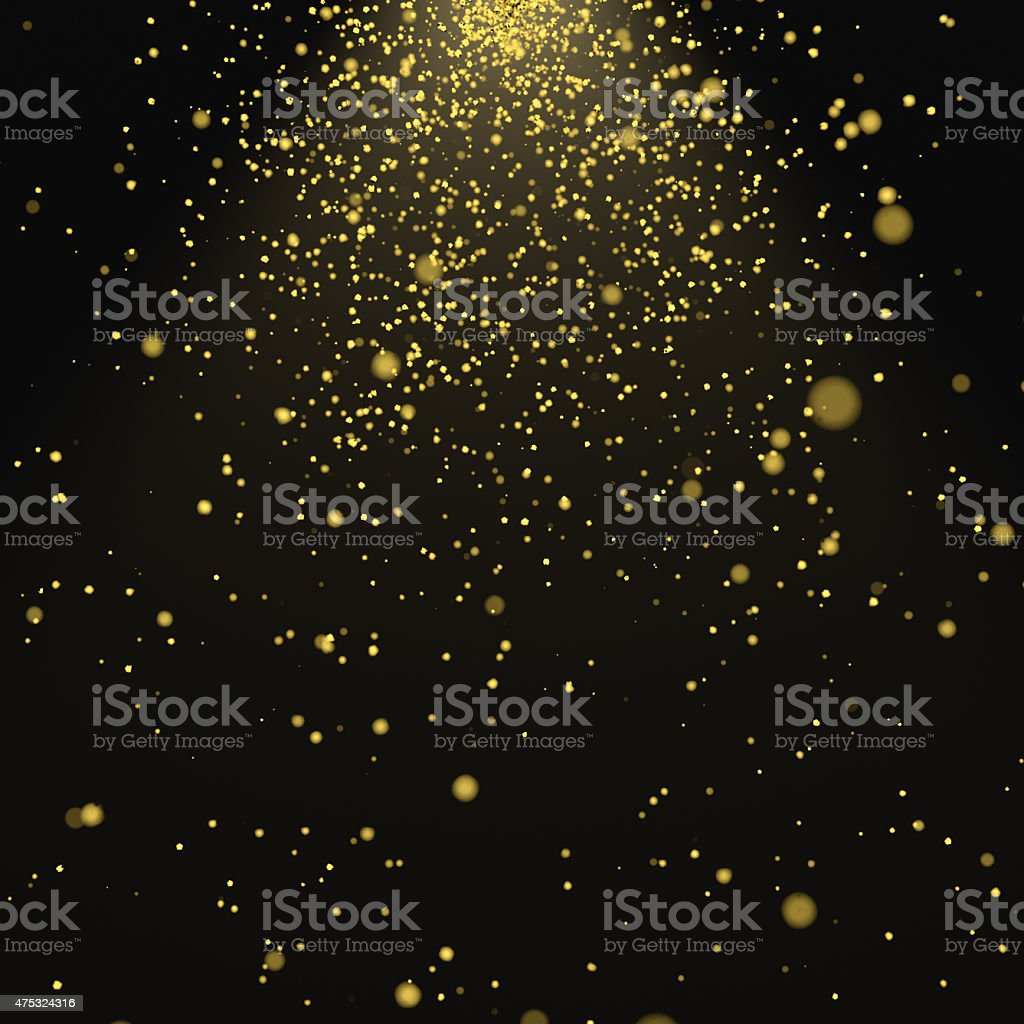 Abstract 3d rendering of chaotic particles stock photo