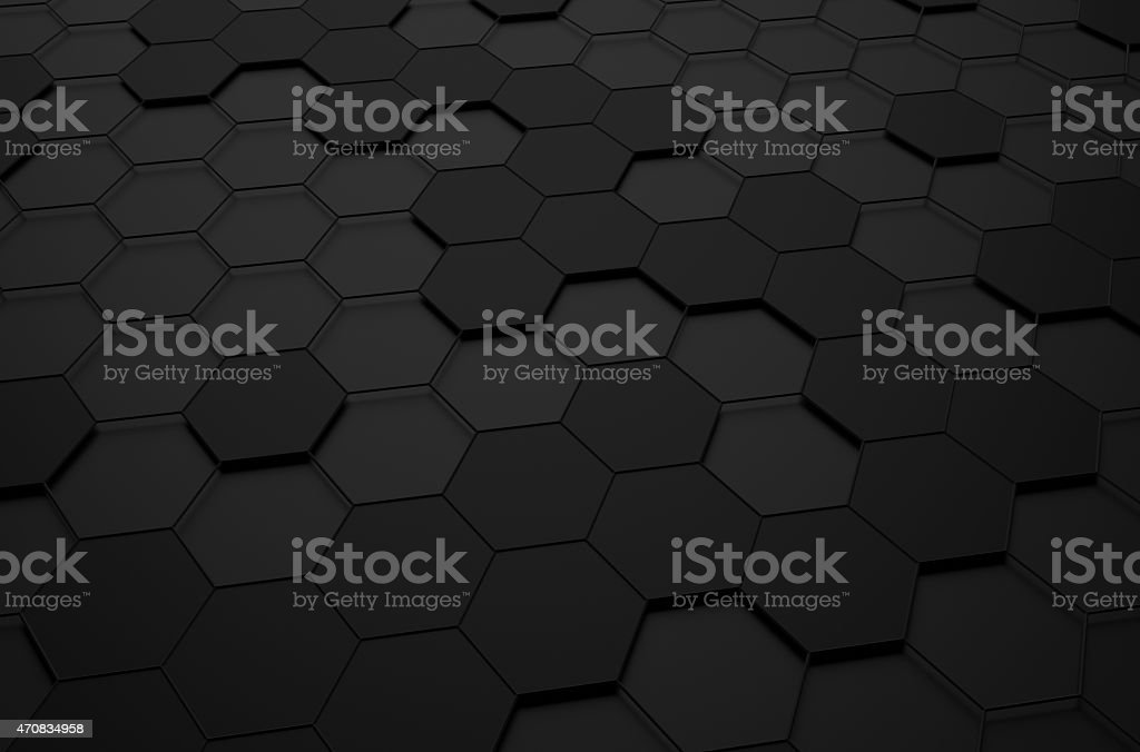 Abstract 3d rendering of futuristic surface with hexagons stock photo