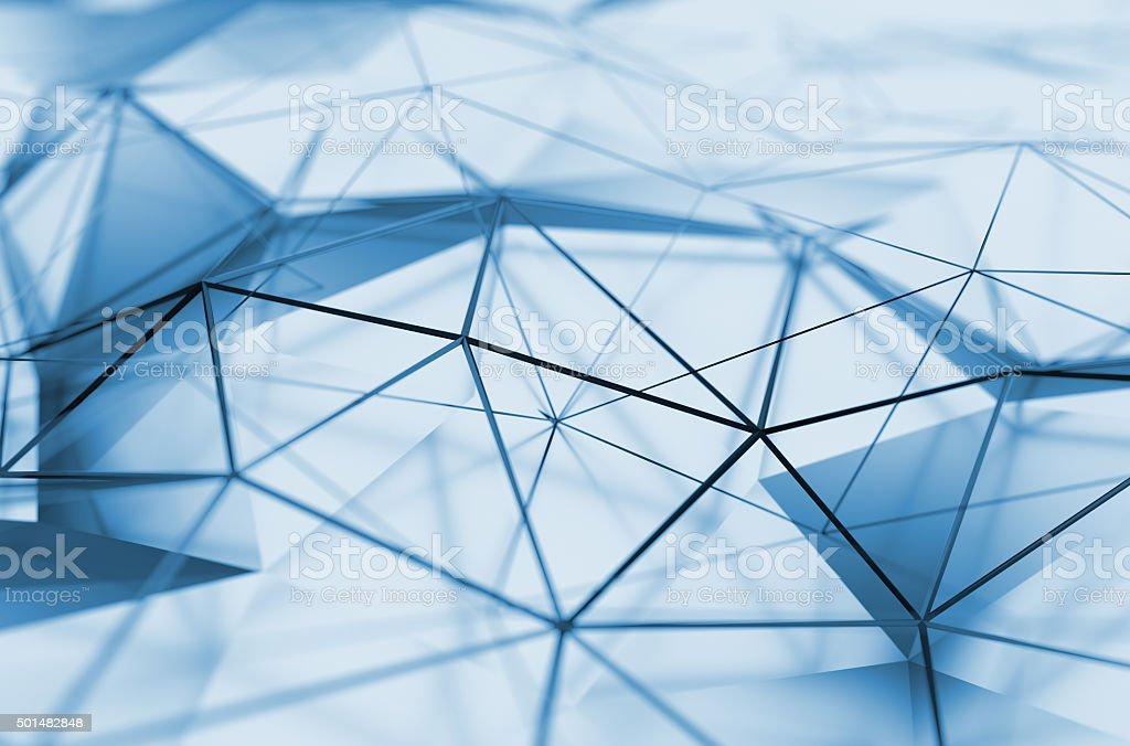 Abstract 3D Rendering of Low Poly Surface stock photo