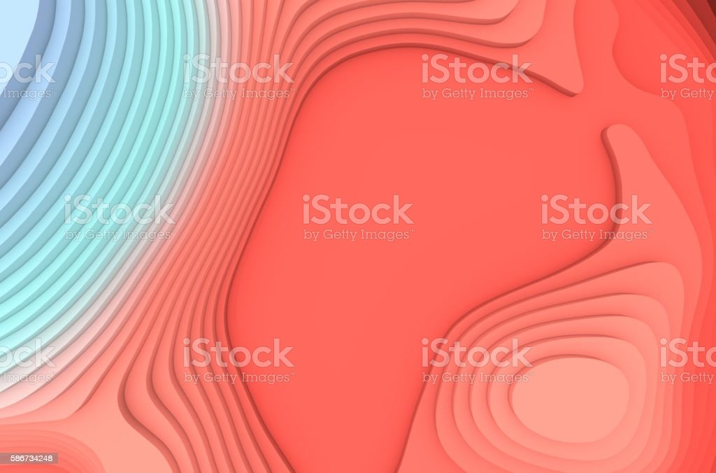 Abstract 3d rendering of topographic map background stock photo