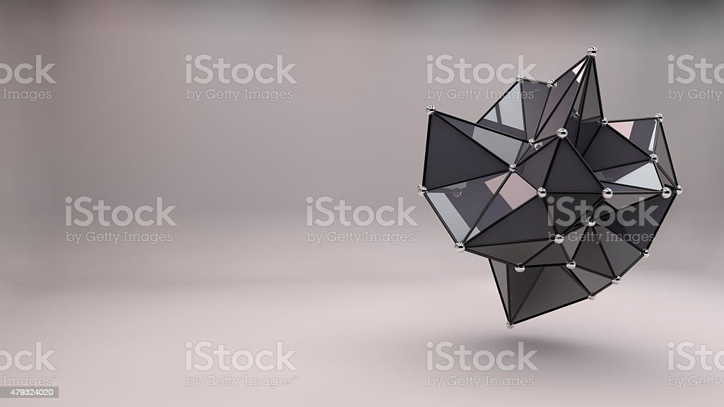 Abstract 3D Shape stock photo