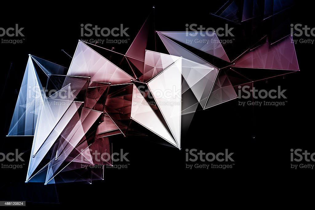 Abstract 3D Shapes Background stock photo