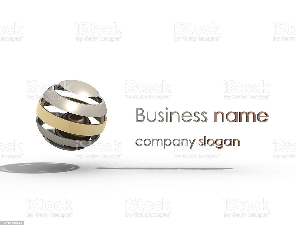 Abstract 3d sphere logos stock photo