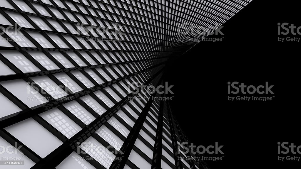 Abstract 3D Square Wall Background royalty-free stock photo