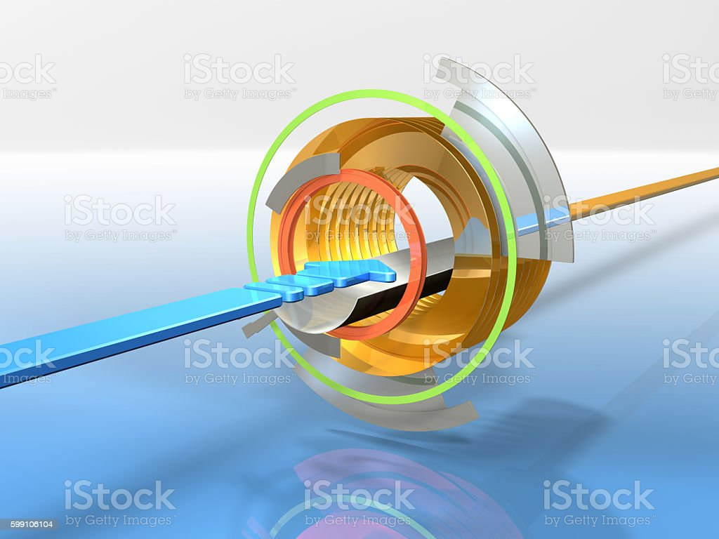Abstract 3DCG illustrations representing the digital input. stock photo