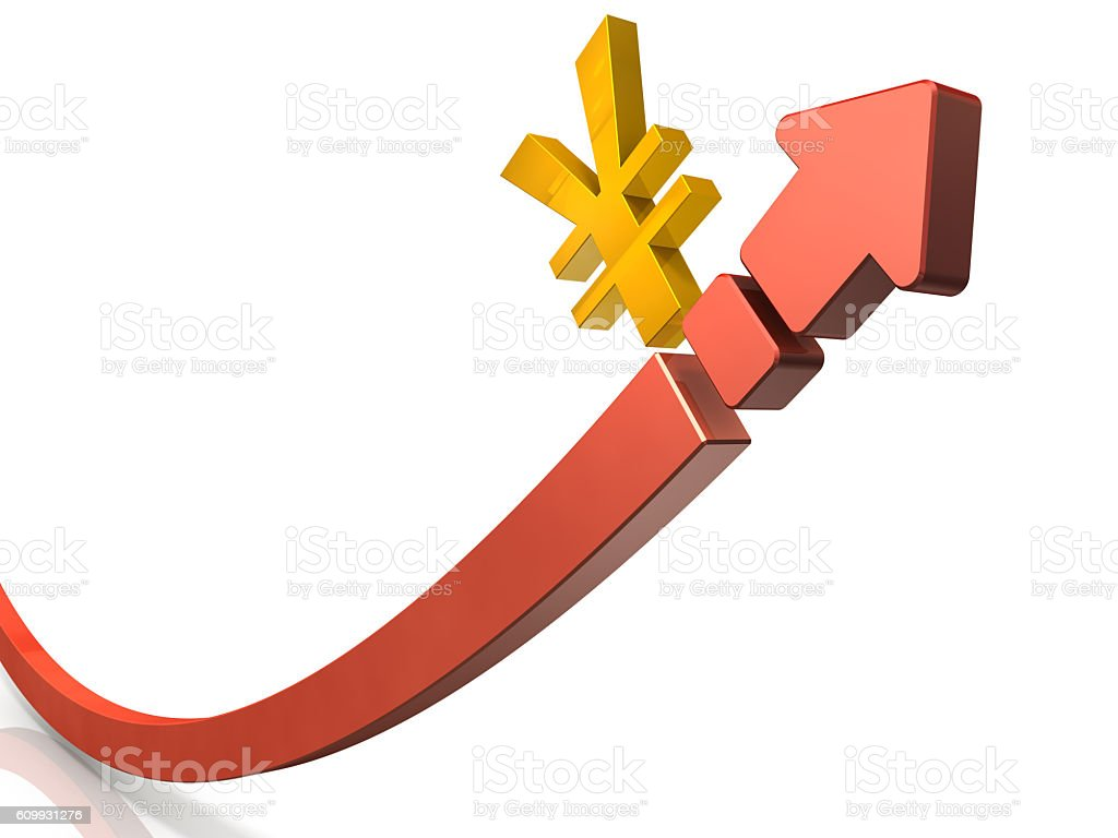Abstract 3DCG representing the soaring price. stock photo