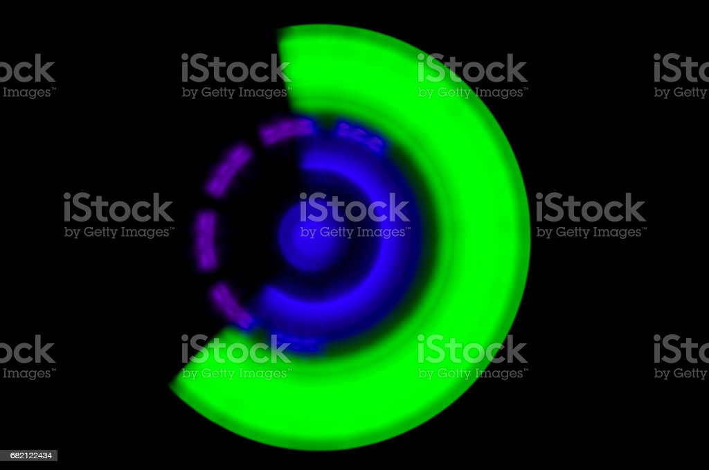abstract acceleration speed motion on night, shine light effect, glowing spiral,shine round frame with light circles light effect stock photo