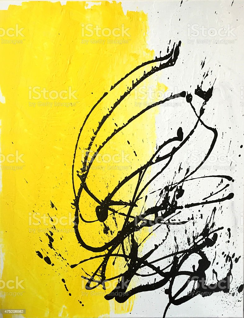 Abstract Acrylic Splatter Painting with movement and Passion vector art illustration
