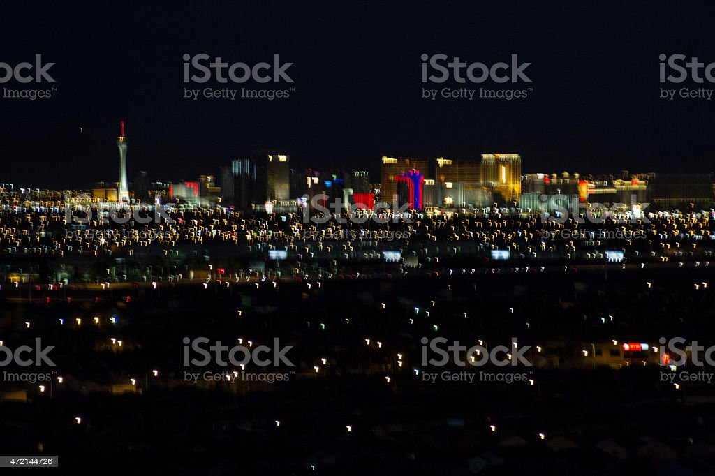 Abstract Aerial view of  Las Vegas stock photo