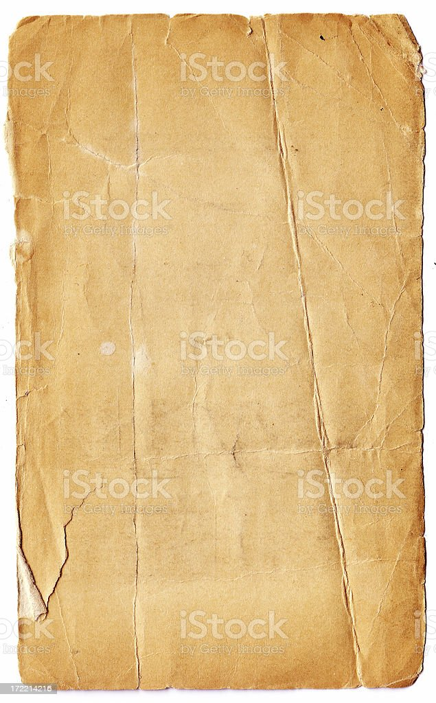 Abstract Aged crinkled paper background royalty-free stock photo