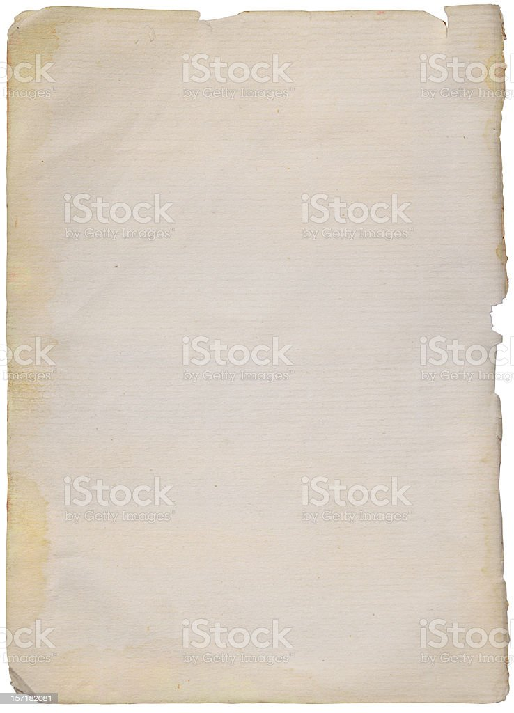 abstract aged paper with clipping path royalty-free stock photo