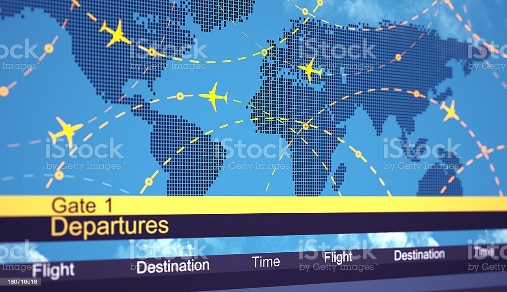 Abstract airlines schedule and traffic royalty-free stock photo