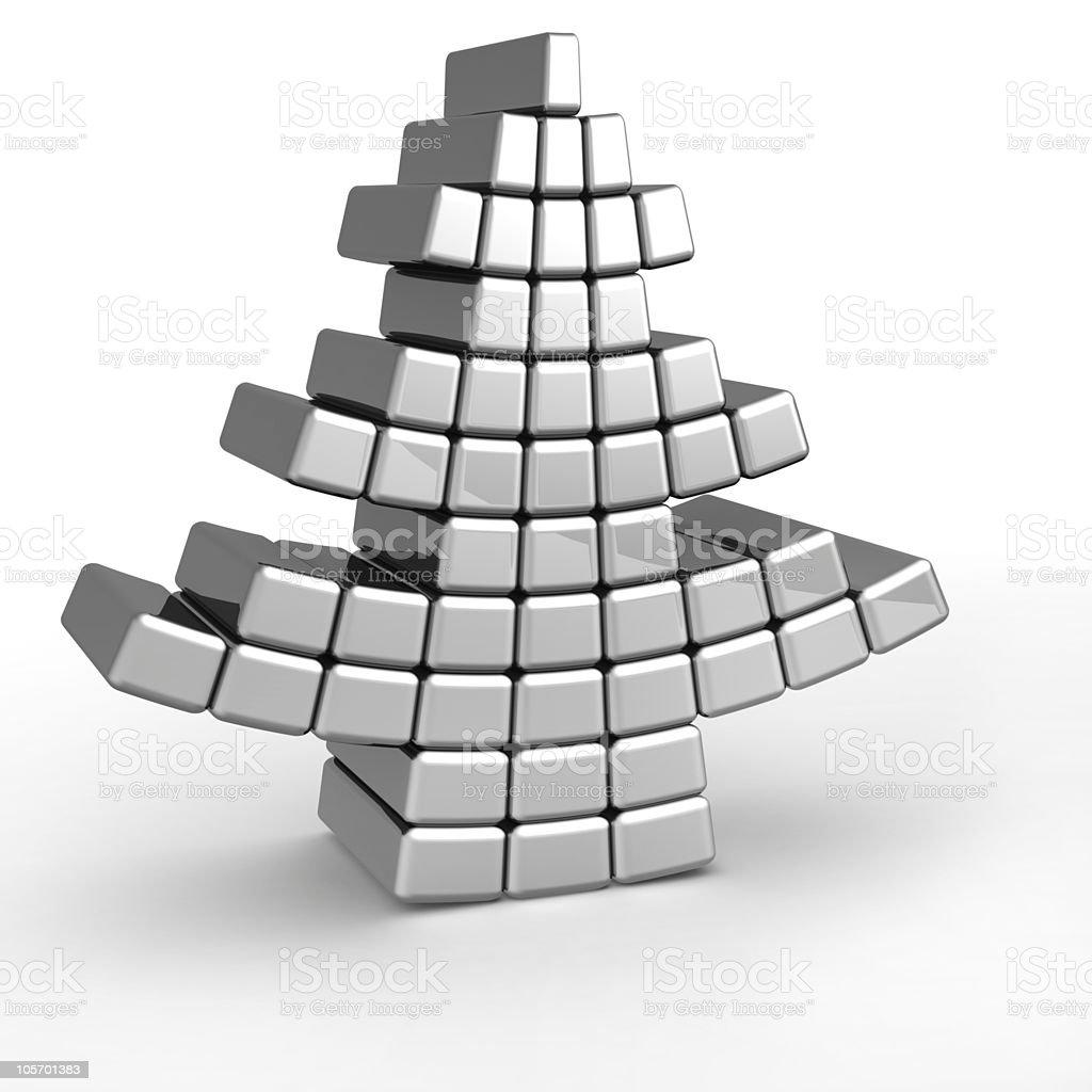 Abstract aluminum christmas tree royalty-free stock photo