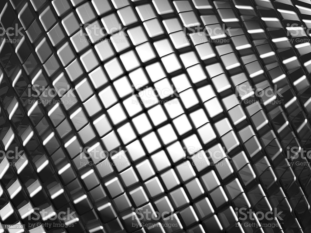 Abstract aluminum dynamic cube background royalty-free stock photo