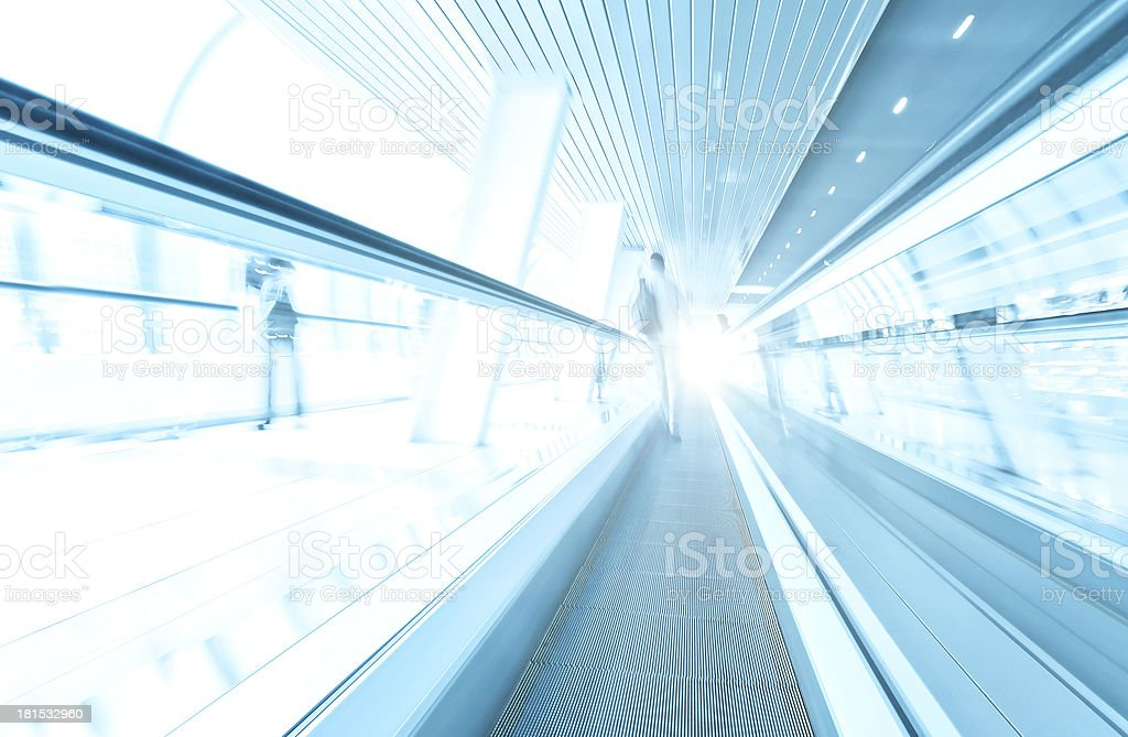 abstract angle of view to passenger transport royalty-free stock photo