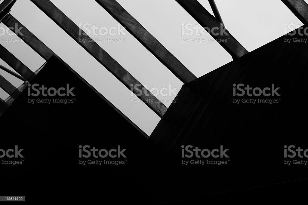 Abstract Angles in Modern Architecture stock photo