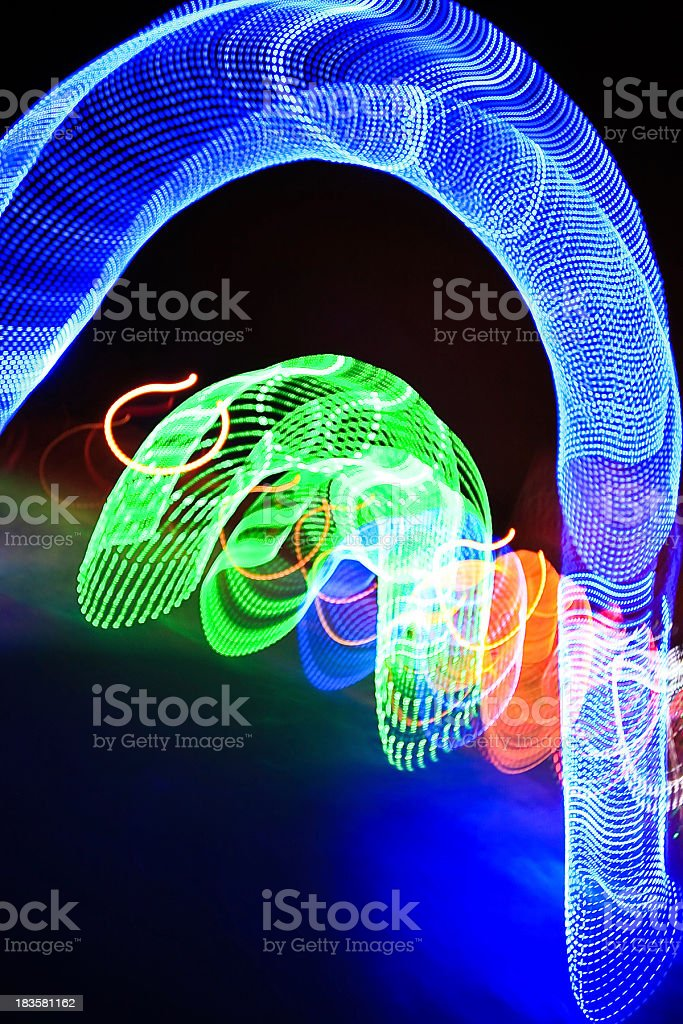 abstract arch lights royalty-free stock photo