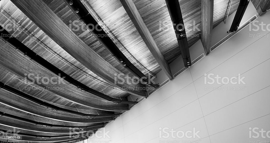 Abstract Architectural Detail of Office Building royalty-free stock photo