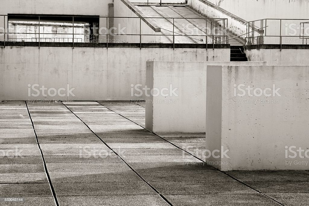 Abstract architectural features suburb building detail stock photo