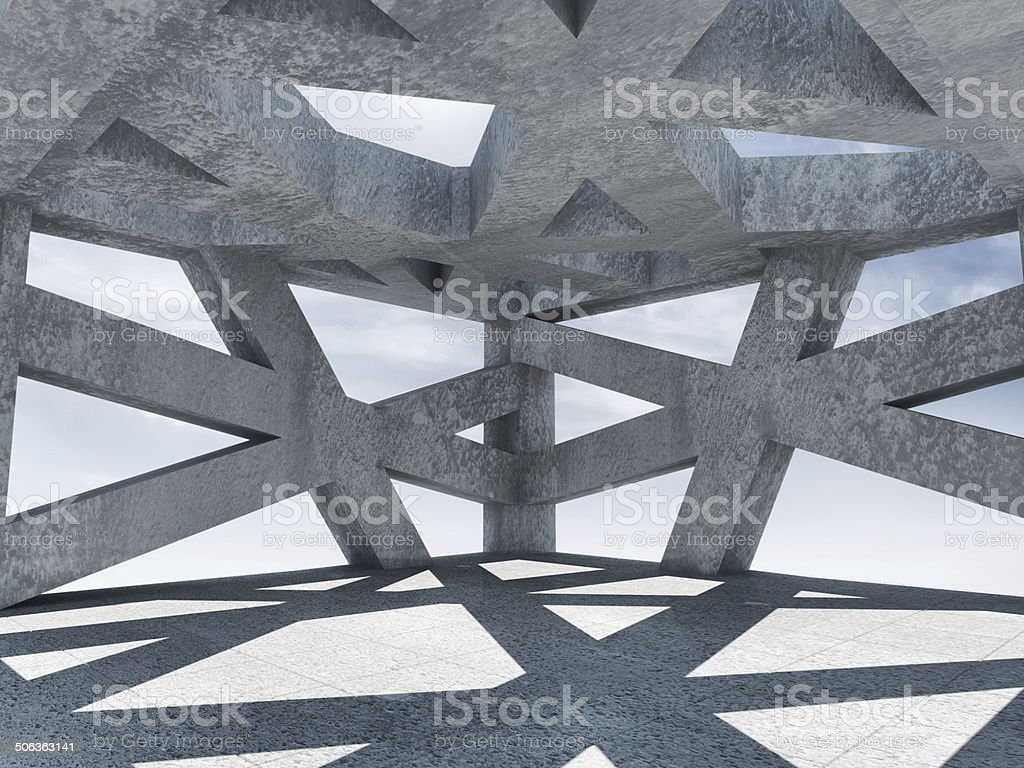 Abstract Architectural Interior stock photo