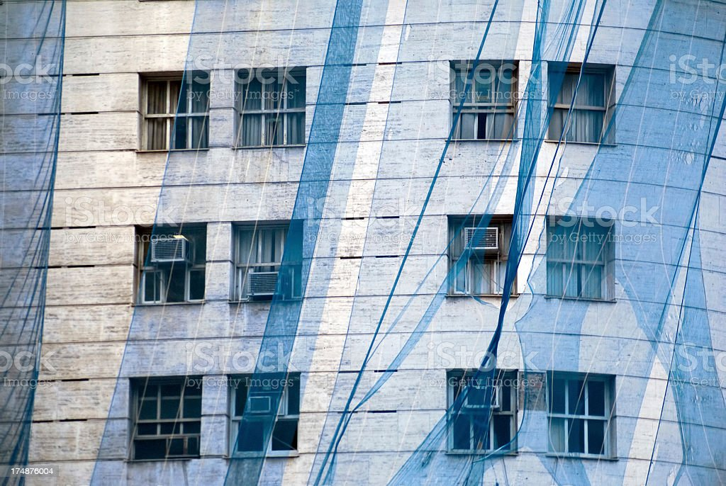 abstract architecture blue royalty-free stock photo