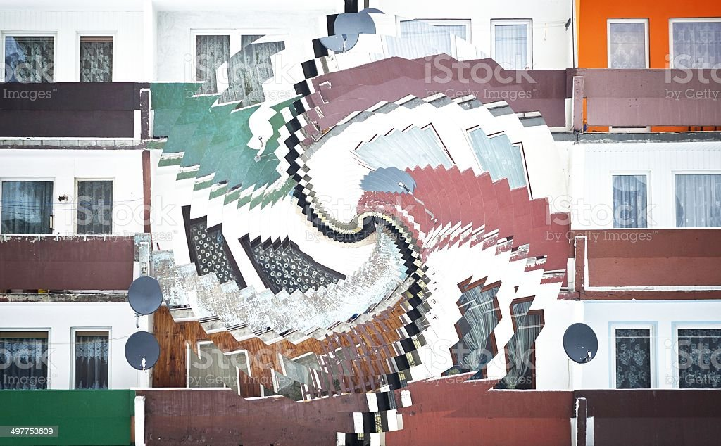 Abstract architecture composition with building stock photo