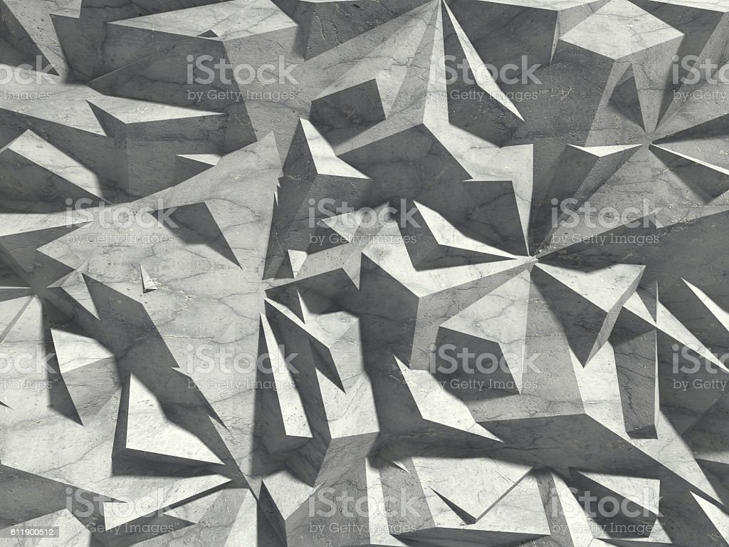 Abstract architecture concrete chaotic pattern wall background stock photo