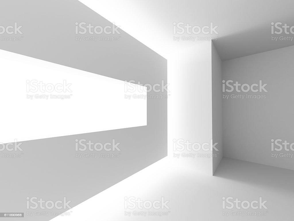 Abstract Architecture Design. Futuristic Interior Background stock photo