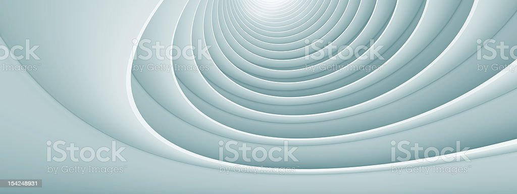 Abstract architecture design swirls royalty-free stock photo
