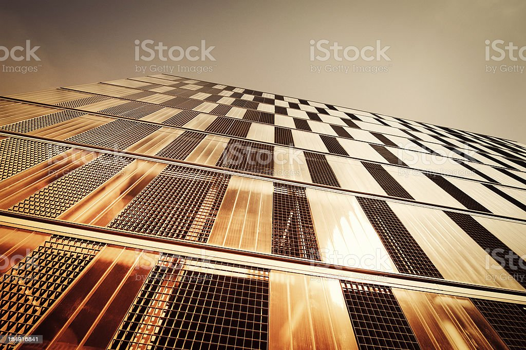 Abstract Architecture, facade of a parking garage royalty-free stock photo