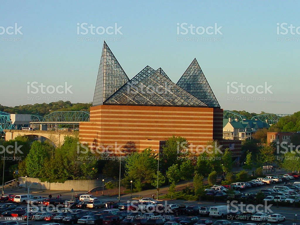 Abstract Architecture in Chattanooga, Tennessee royalty-free stock photo