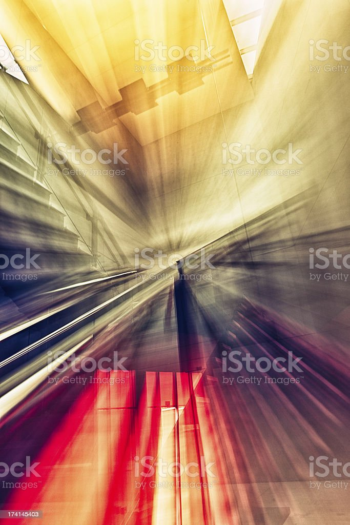 Abstract Architecture Interior stock photo