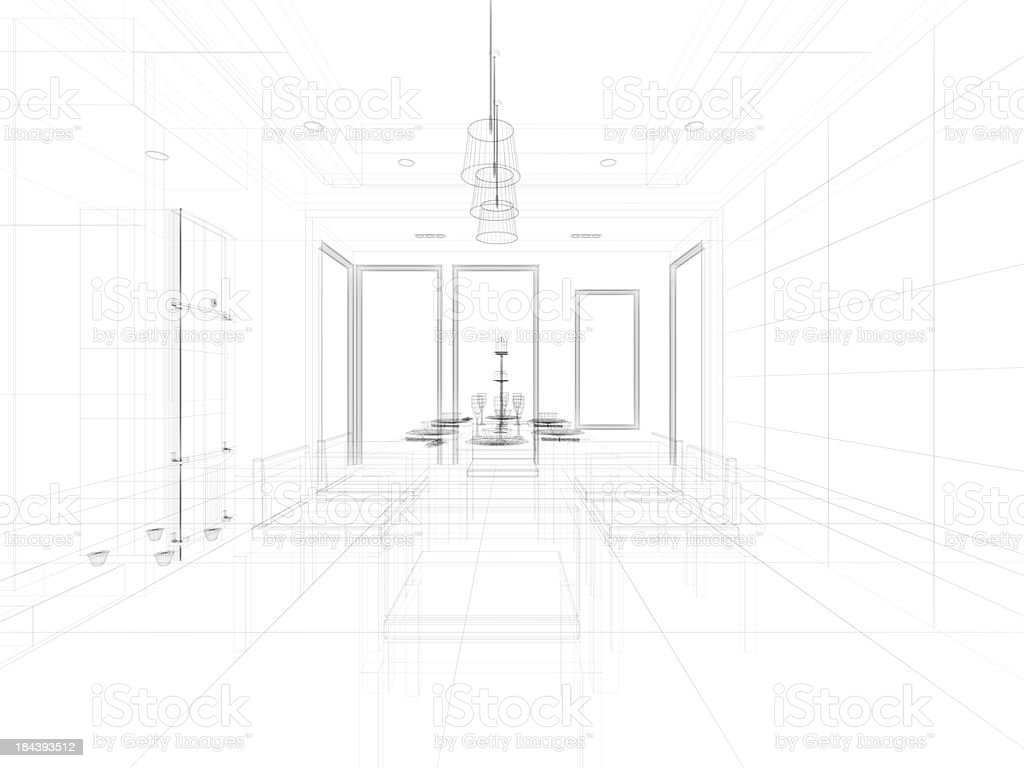 abstract architecture  Kitchen 7 royalty-free stock photo