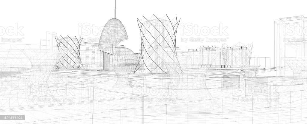 Abstract architecture royalty-free stock vector art