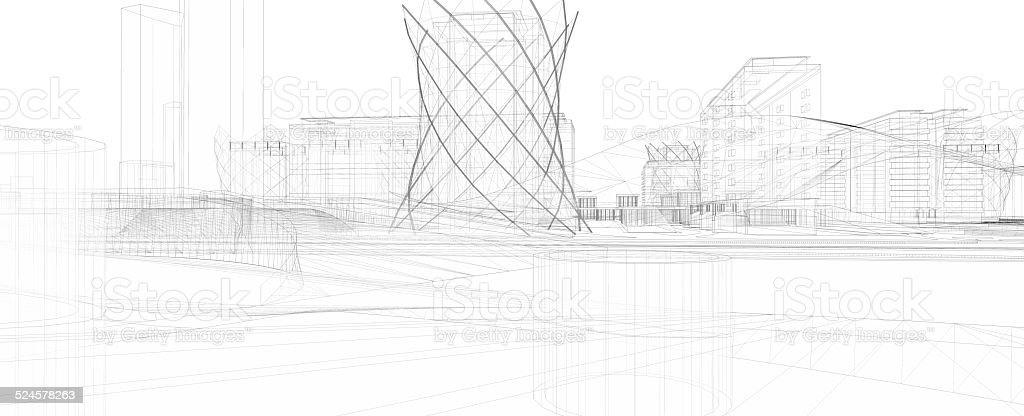 Abstract architecture royalty-free stock photo