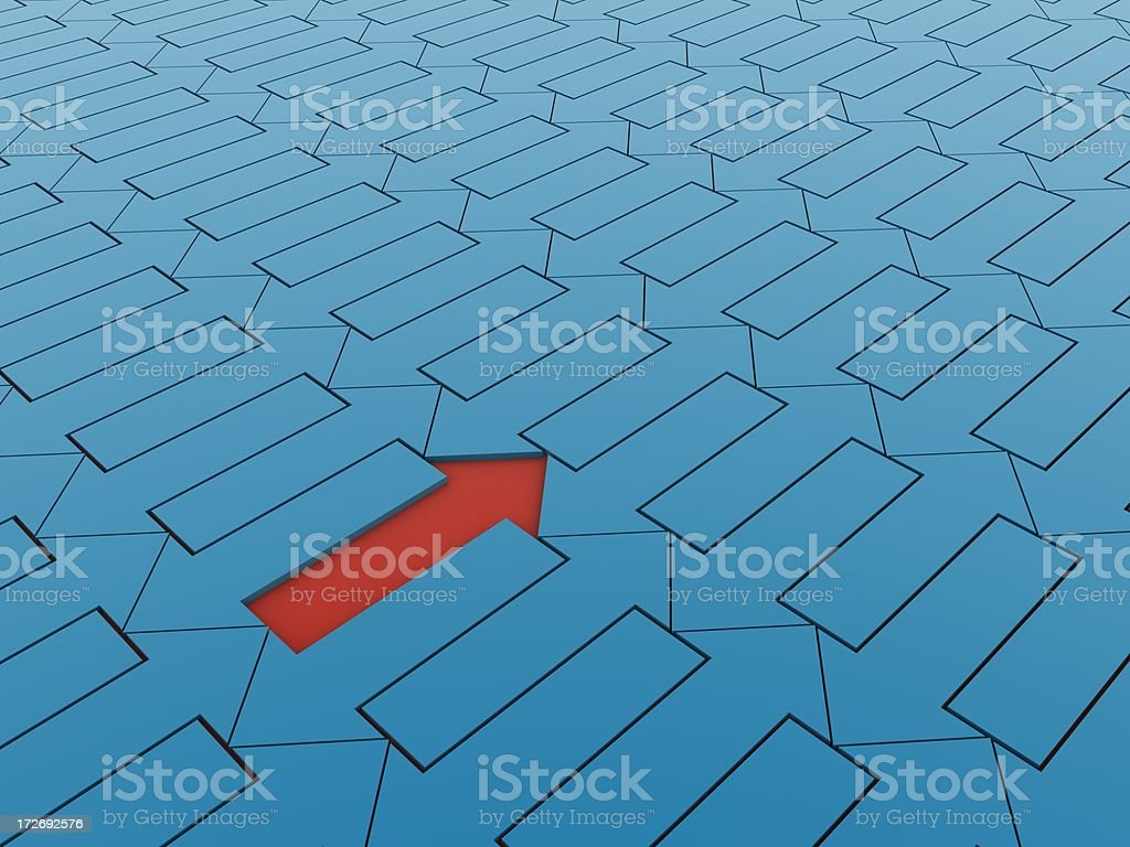 Abstract arrows royalty-free stock photo