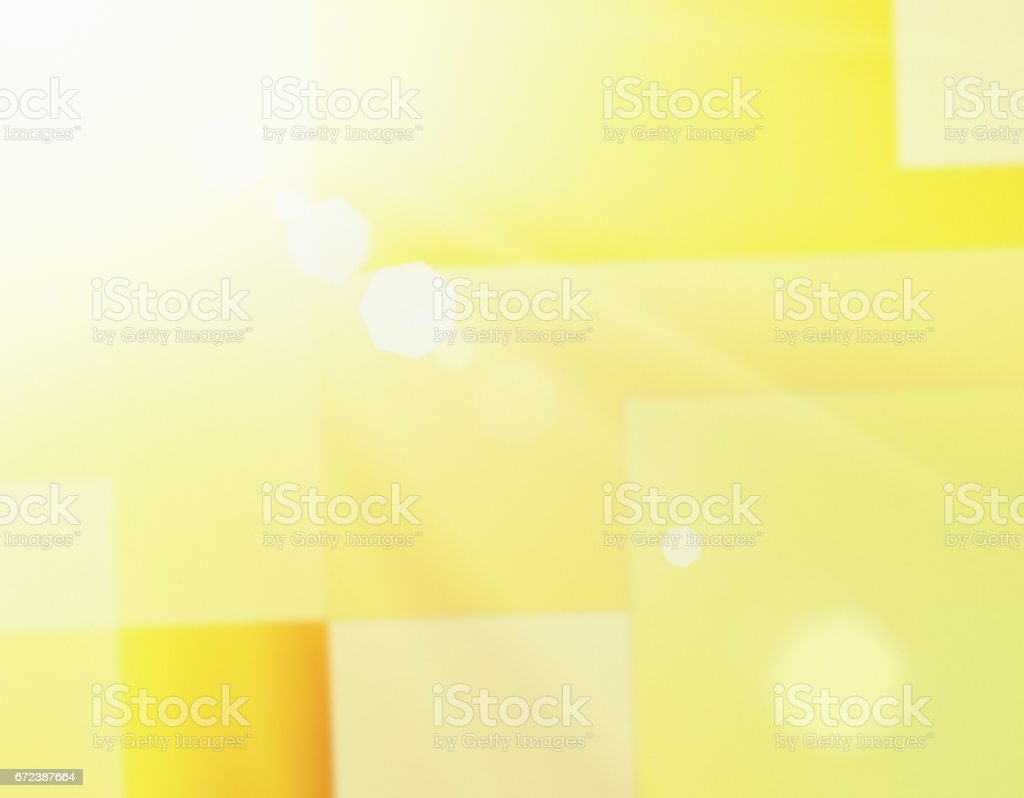 Abstract art background, cubist style, in bright yellows stock photo