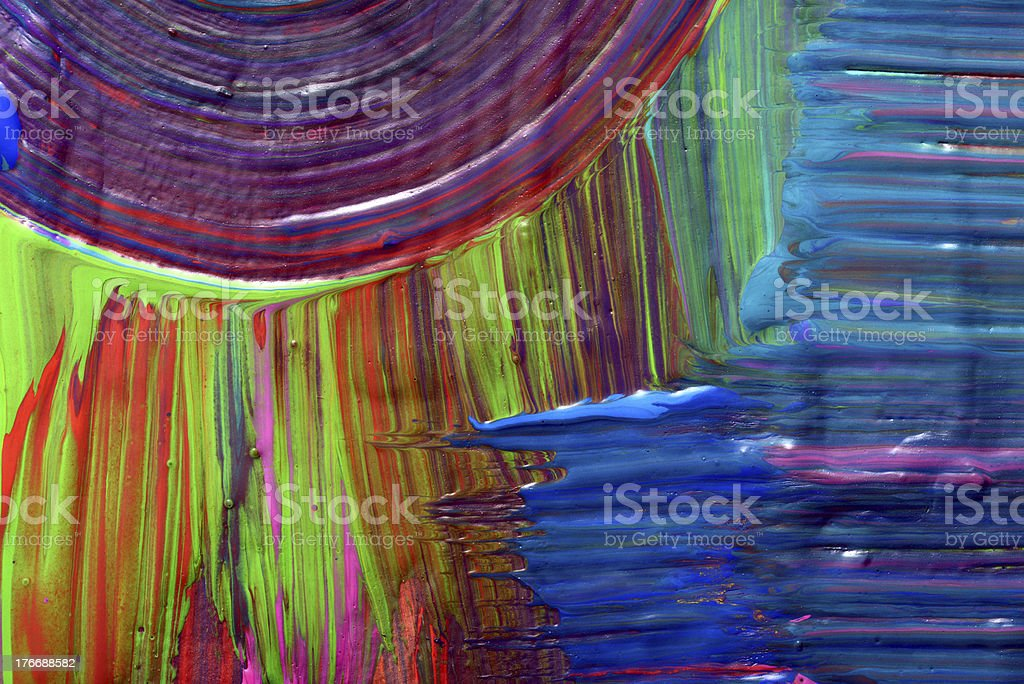 Abstract art backgrounds. Hand-painted background royalty-free stock vector art