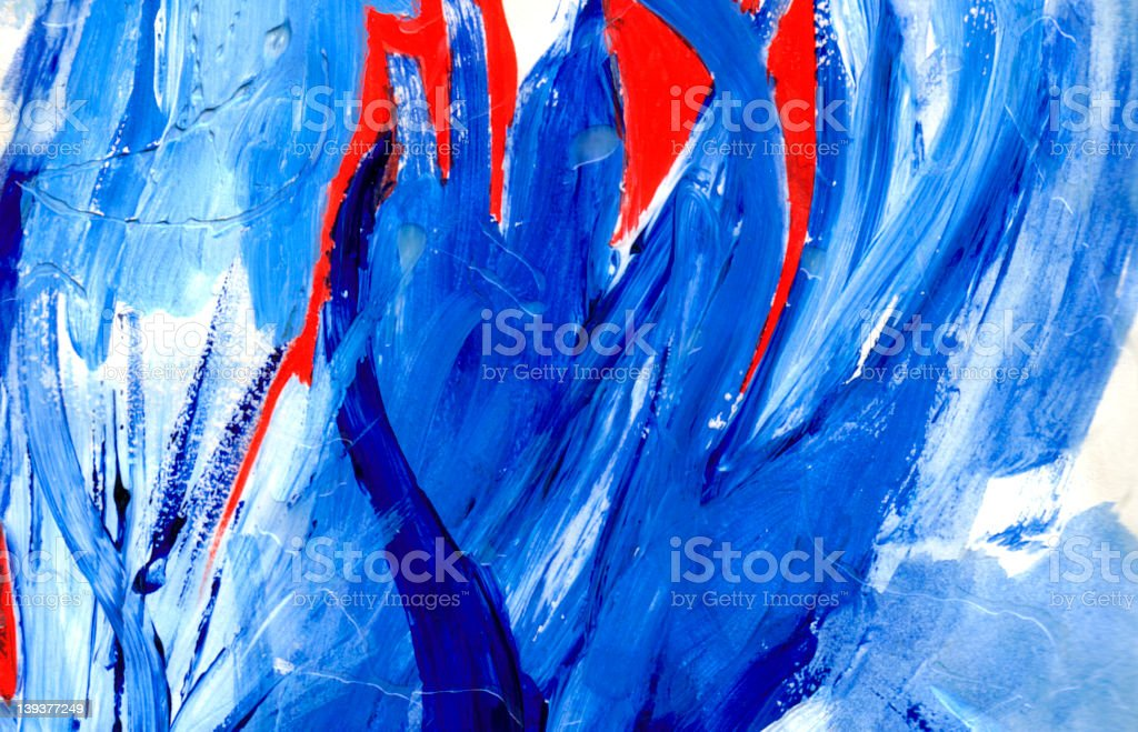 Abstract Art - Hand Painted II royalty-free stock photo