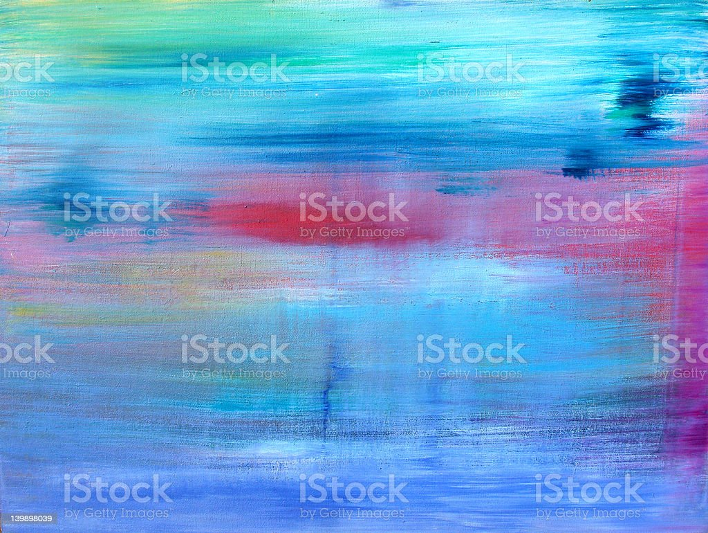 Abstract Art - Hand Painted III stock photo