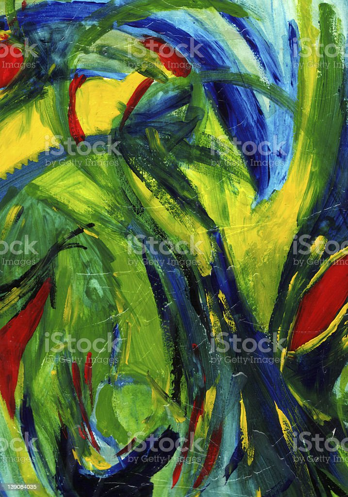 Abstract Art - Hand Painted royalty-free stock photo