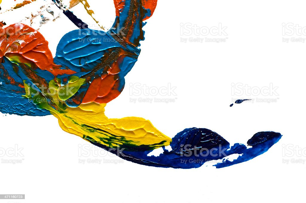 Abstract art on white royalty-free stock photo