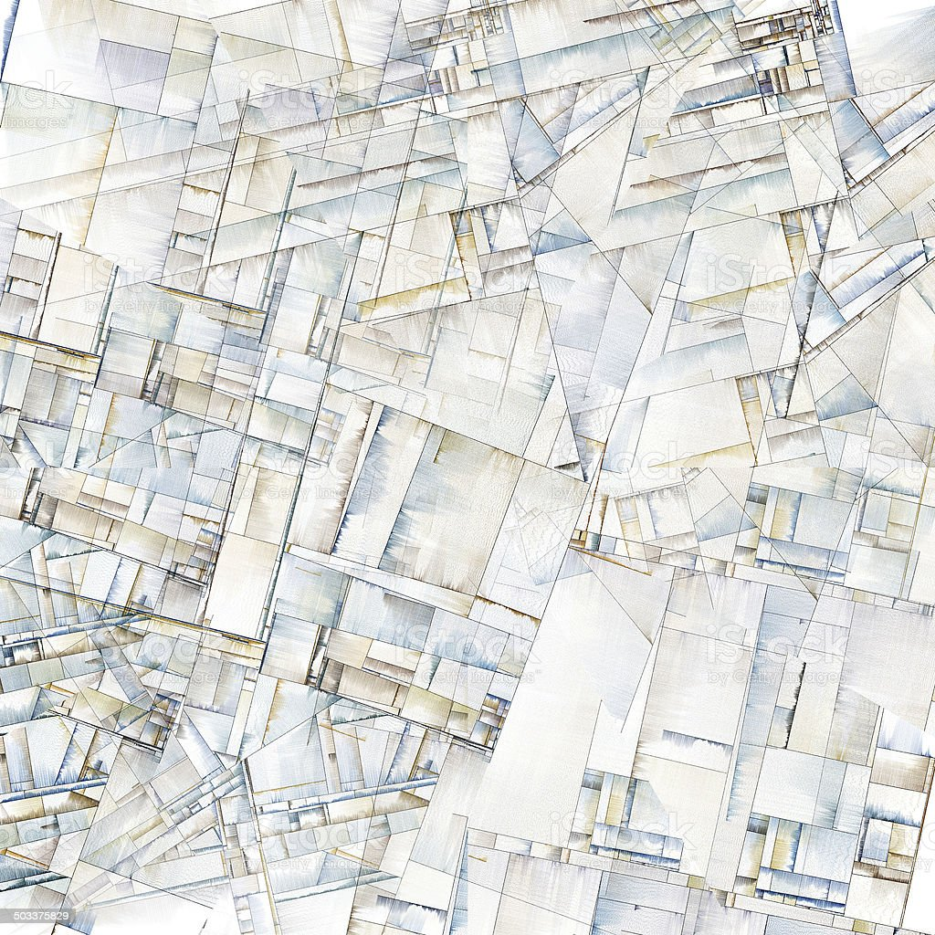 Abstract Art Reminiscent of City Blocks stock photo