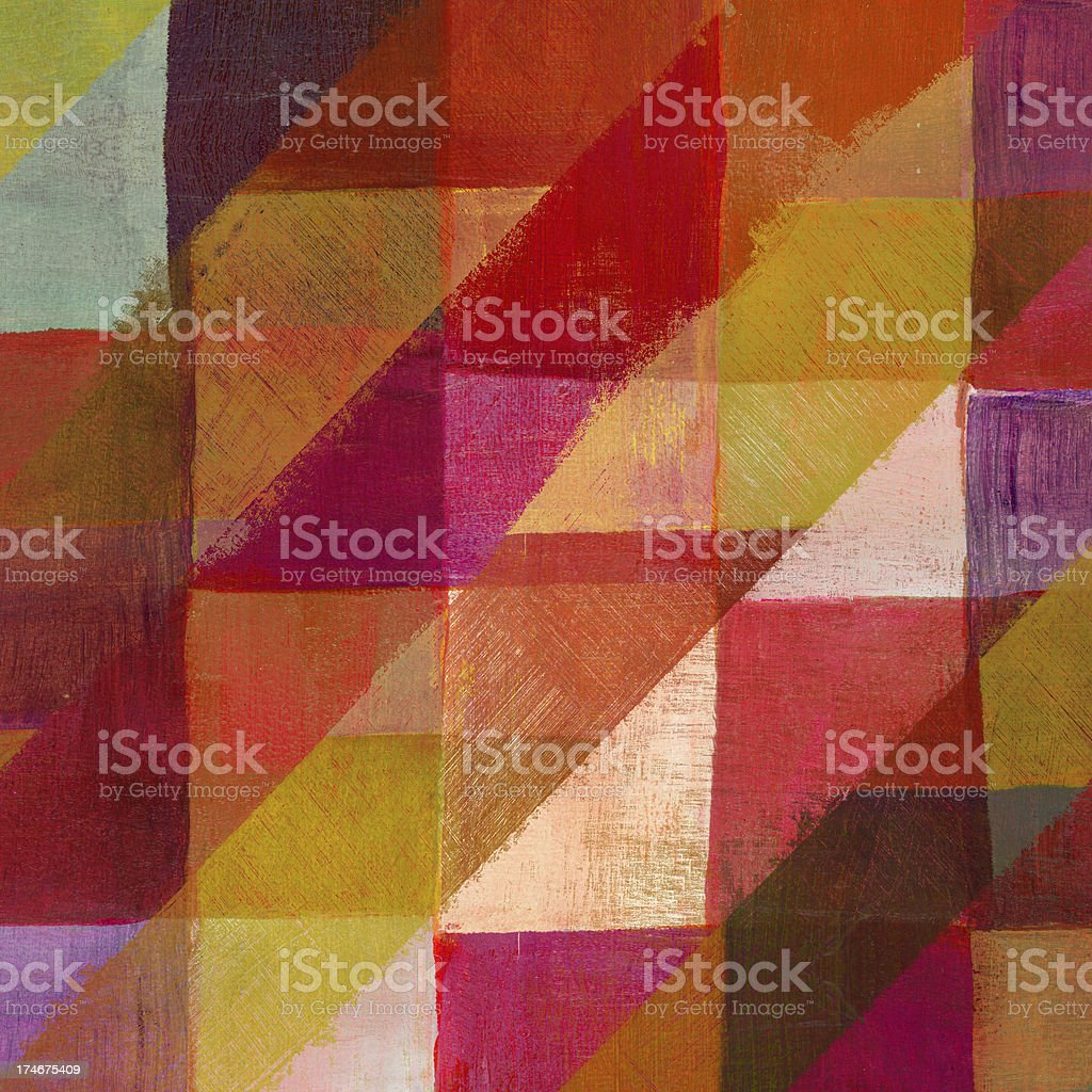 Abstract Art with Diagonal Lines royalty-free stock photo