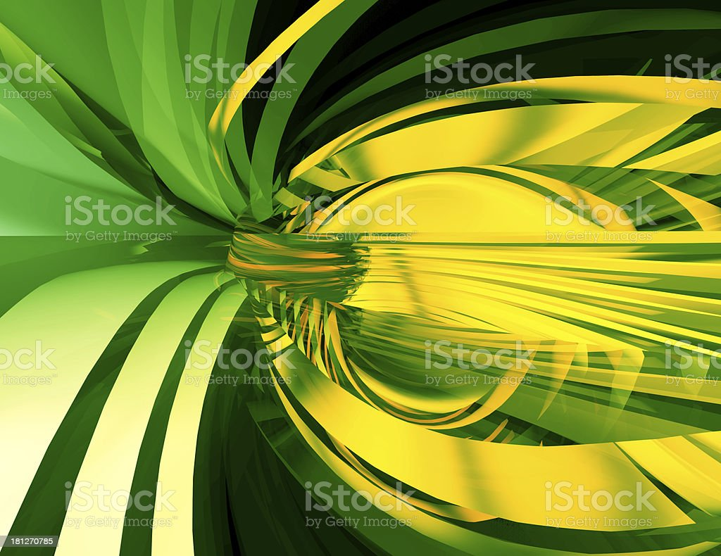Abstract Art,Green Glass Background royalty-free stock photo