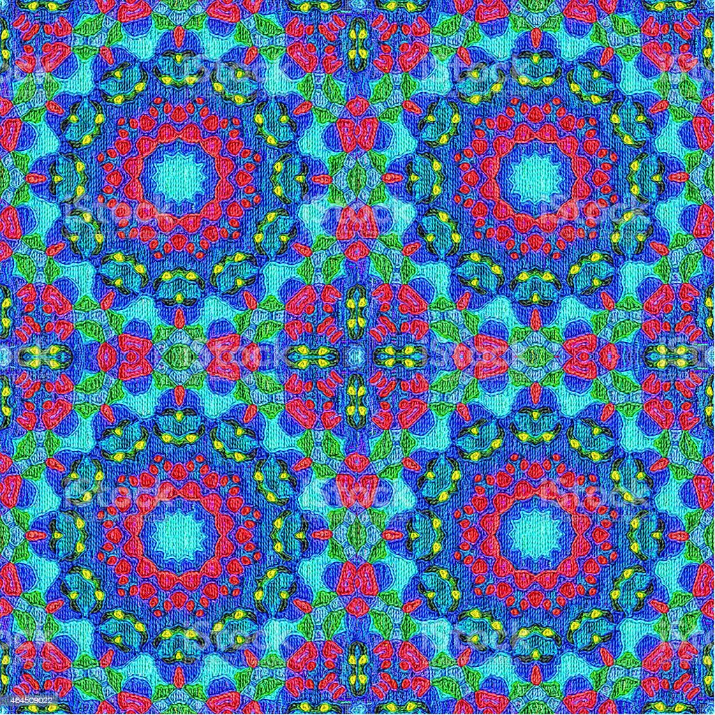 Abstract Artistic Pattern in Gobelin Style stock photo