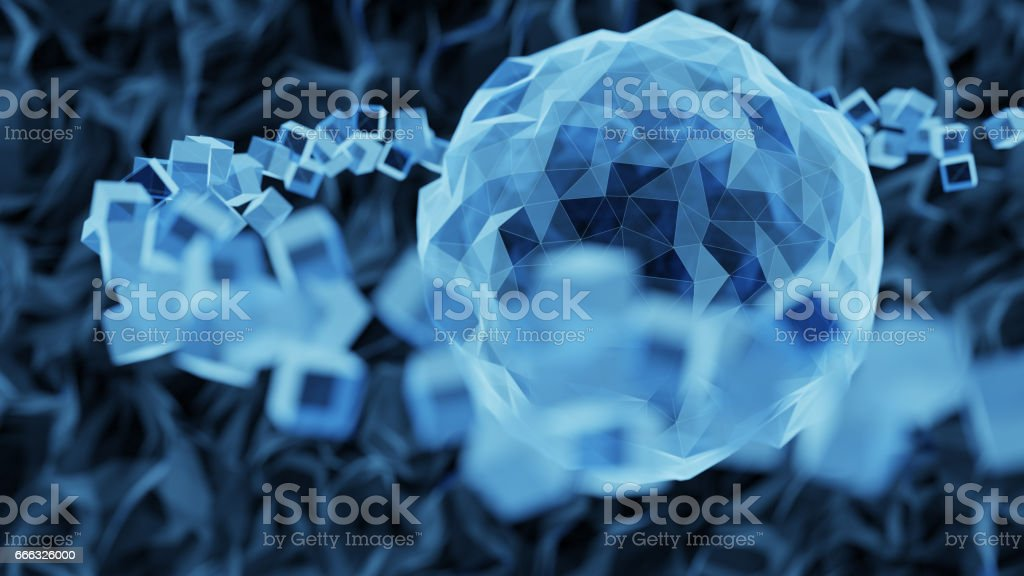 Abstract atomic structure stock photo