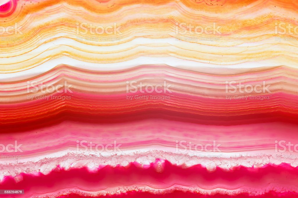 Abstract backgground - red agate slice mineral stock photo