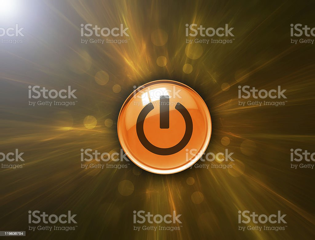 Abstract background and power button royalty-free stock photo